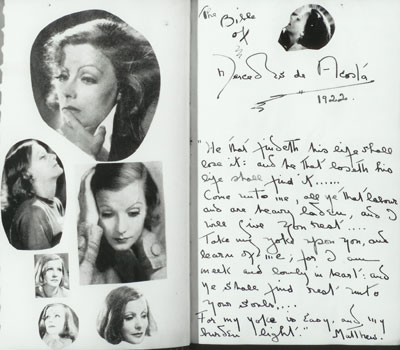 For close to 40 years film scholars and biographers of Greta Garbo have waited for the day when 55 letters and 32 cards and telegrams that the actress wrote to Mercedes de Acosta, a playwright, screen writer and poet, would be unsealed at Philadelphia's Rosenbach Museum & Library.